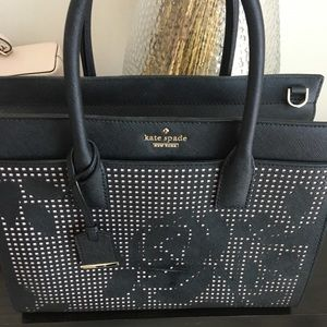 Cameron Street Candace Perforated Leather Satchel